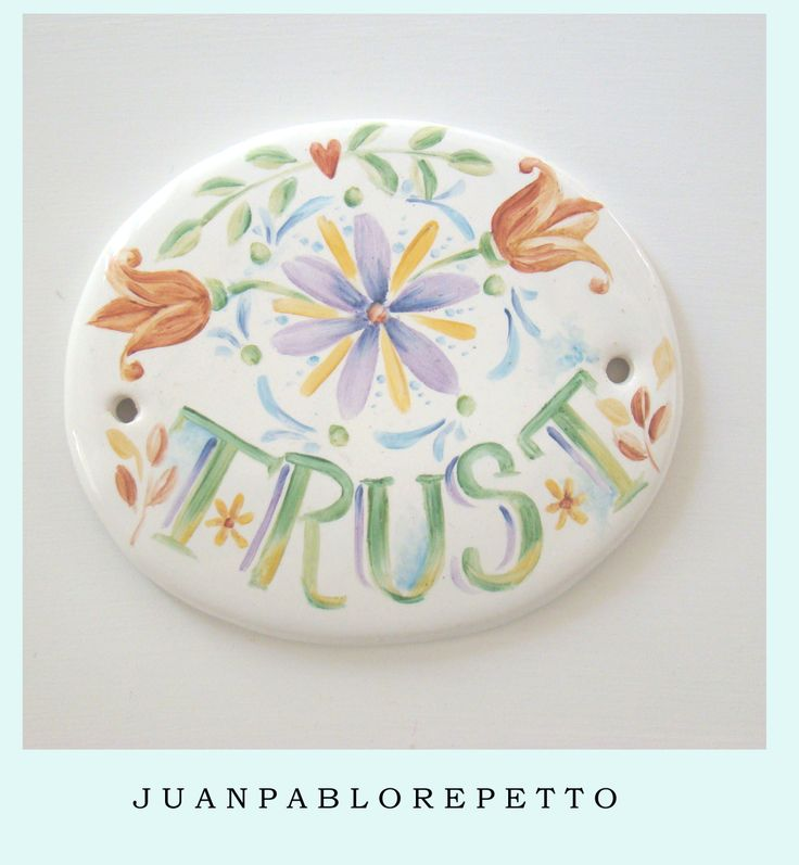 trust, color, pintura en porcelana, deco, hippie