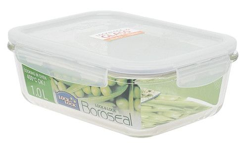 Boroseal II 4.2 Cup Heat Resistant Rectangular Glass Container with Lid
