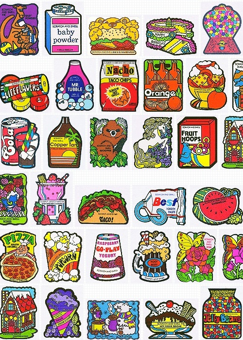 80's stickers. My sister and I had some of these!