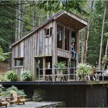 One Room New York Cabin In The Woods Small Pinterest