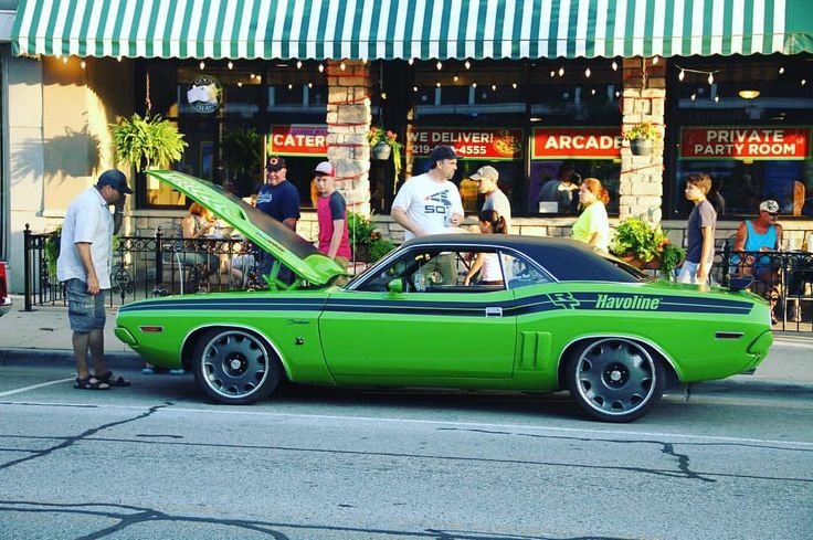 Remember our '71 Challenger that #Havoline gave away last year? Dennis B., the guy who won it, has been having a blast showing it off around town! You could win a GMG custom hot rod, too! Click the link in our bio to enter. #badtothechrome #metalmorphosis #GYSOT #havoline #gasmonkeygarage #hotrod