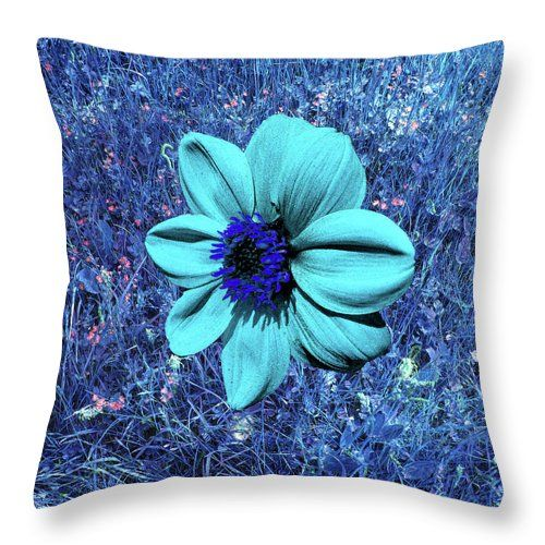Blue Dahlia Abstract by mARTine