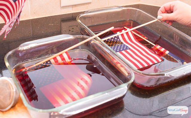 DIY Vintage American Flags Look http://www.attagirlsays.com/2014/06/10/diy-vintage-american-flags/