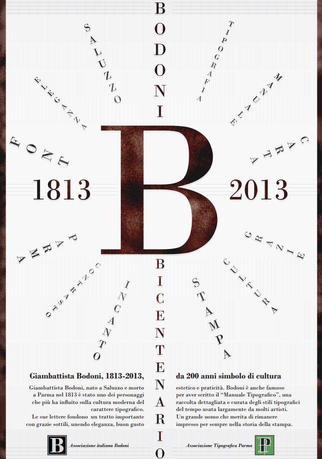 Manifesto 70x100 per il bicentenario della scomparsa di Bodoni.  Visita http://mannamarcografico.altervista.org/home.html per saperne di più!