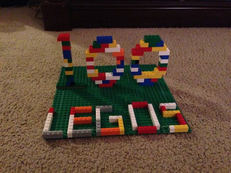 100 day of school project using 100 Lego pieces.