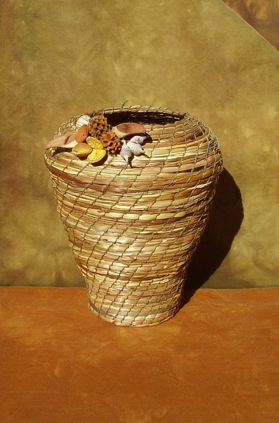 Coiled Eco Basket Australian Native Plant Materials by Eucalypso, $85.00