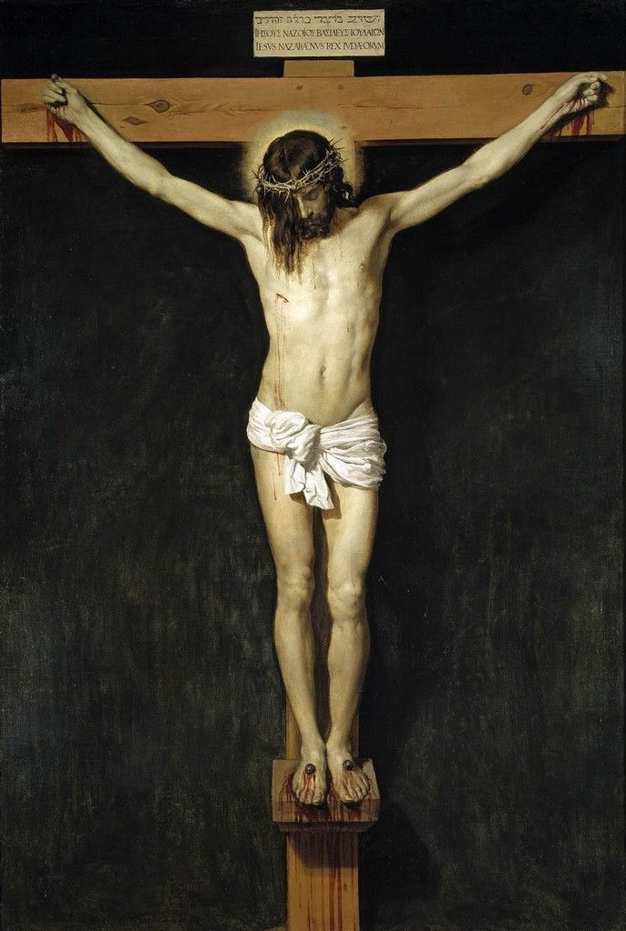 """""""By Your cross and ressurection, You have set us free. You are the Savior of the world.""""  Christ Crucified - Diego Velazquez 1632"""