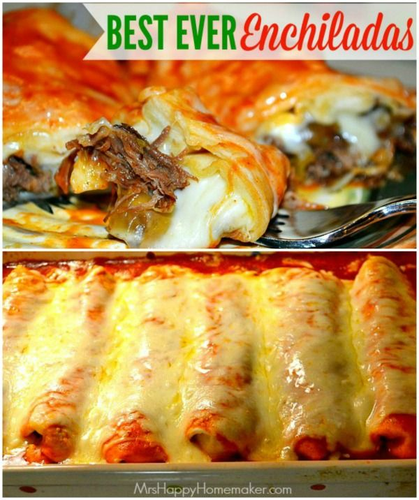 BEST EVER Enchilada Recipe - Seriously, the best.