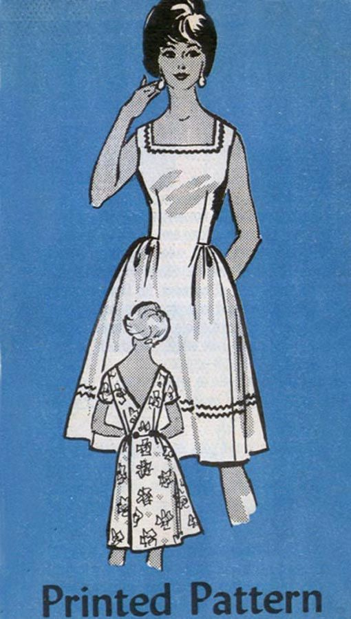 1960s Back Wrap Dress with Low V Back Mail order pattern 4732 Womens 60s Vintage Sewing Pattern Size 14 (34-26-36) by sandritocat on Etsy