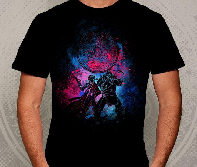 Camiseta Básica na cor Preto - Ilustração Brotherhood por Donnie
