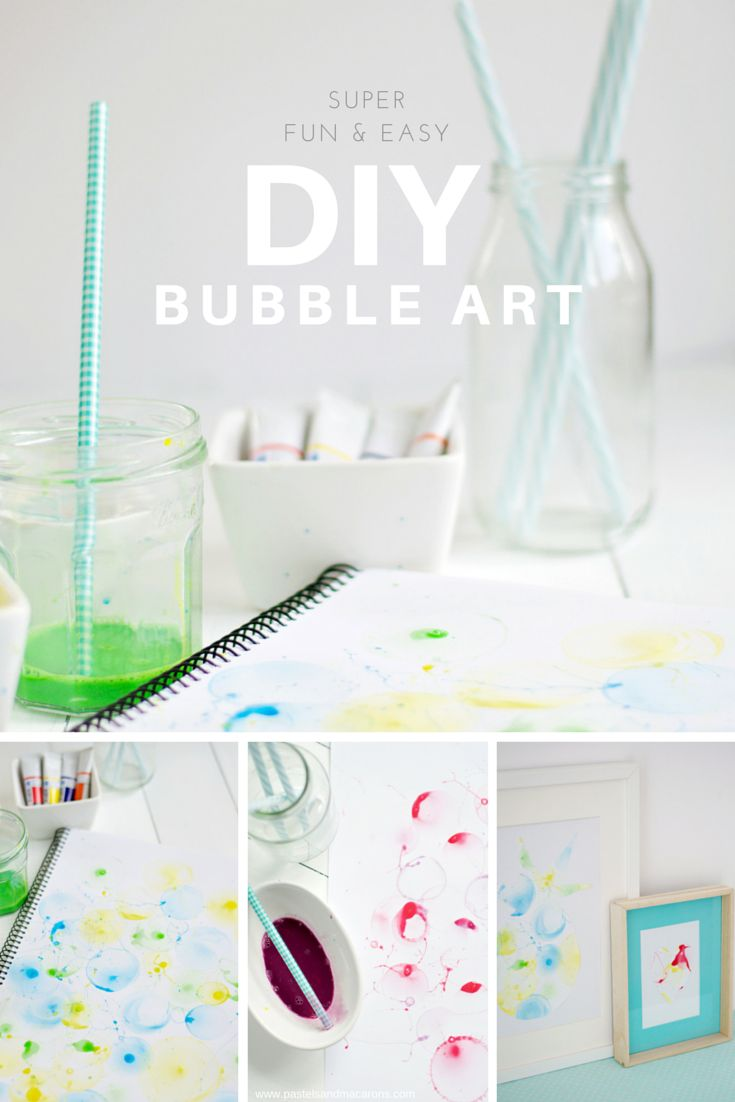 Super Fun & Easy DIY Bubble Art {Guest Post} - Always Made With Love  #DIY #create #creative #art #bubbles #BubbleArt