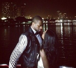 Dwyane Wade and Gabrielle Union at his 32nd birthday party