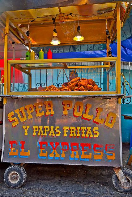 Street Food: Chicken and French Fries in Panajachel, Guatemala   - Explore the World with Travel Nerd Nici, one Country at a Time. http://TravelNerdNici.com