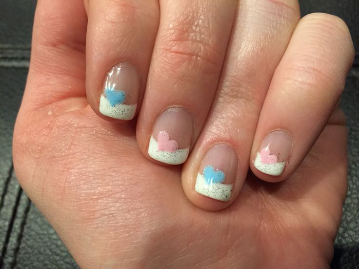 Valentine's Day/ gender reveal nails