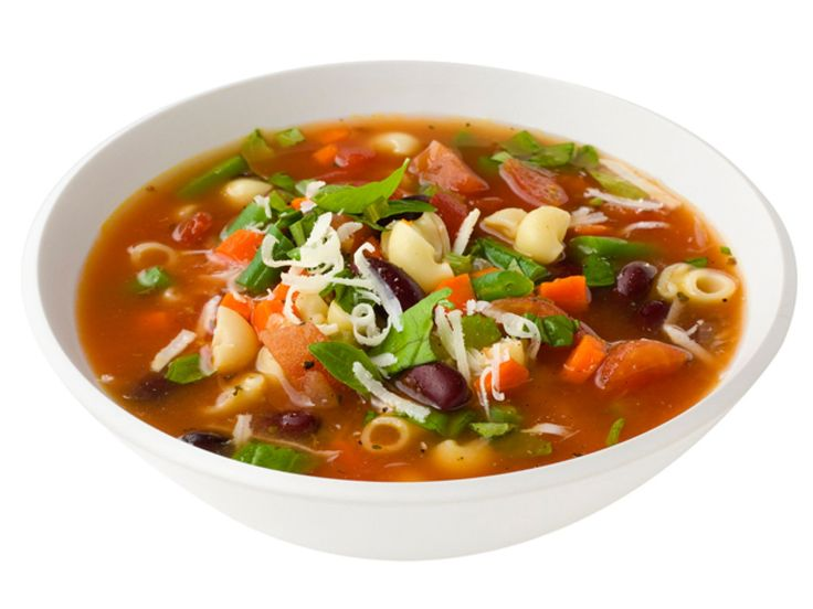 Minestrone Soup recipe from Ellie Krieger - a wonderful way to use up all those summer veggies including tomatoes, green beans, zucchini and chard.
