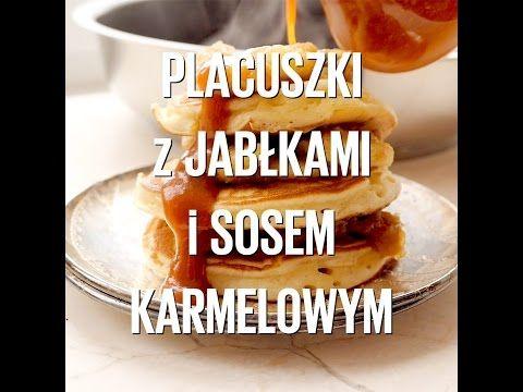 Placuszki jogurtowe z prażonymi jabłkami i sosem karmelowym | Kwestia Smaku