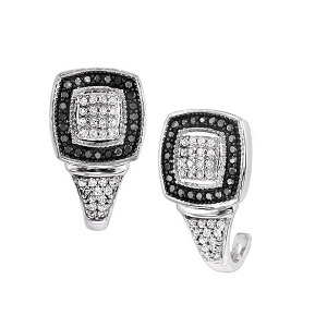 Diamond Jewellers :: What makes these 1/3 ctw black and white diamond earrings stand apart from the crowd is simply this; the quality, the design and the value! The dramatic look of the black and white against the sterling silver is going to WOW you and anyone you come in con