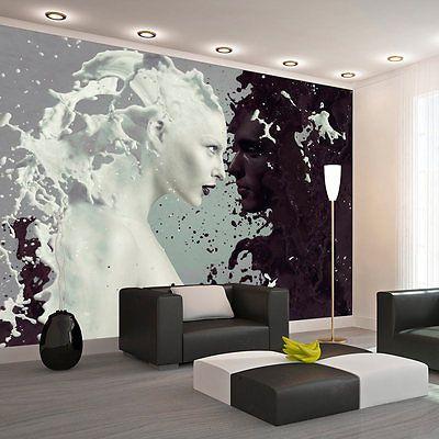 details zu vlies fototapete tapeten xxl wandbilder gesicht schwarz wei h a 0050 a a - Fototapete Grau Wei