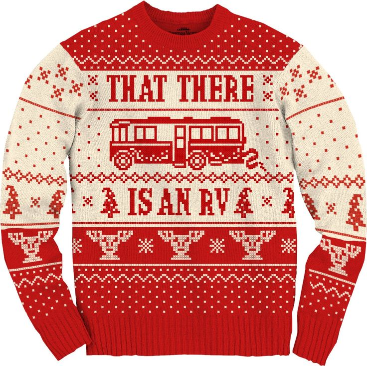 National Lampoons Christmas Vacation Cousin Eddie RV Ugly Christmas Sweater