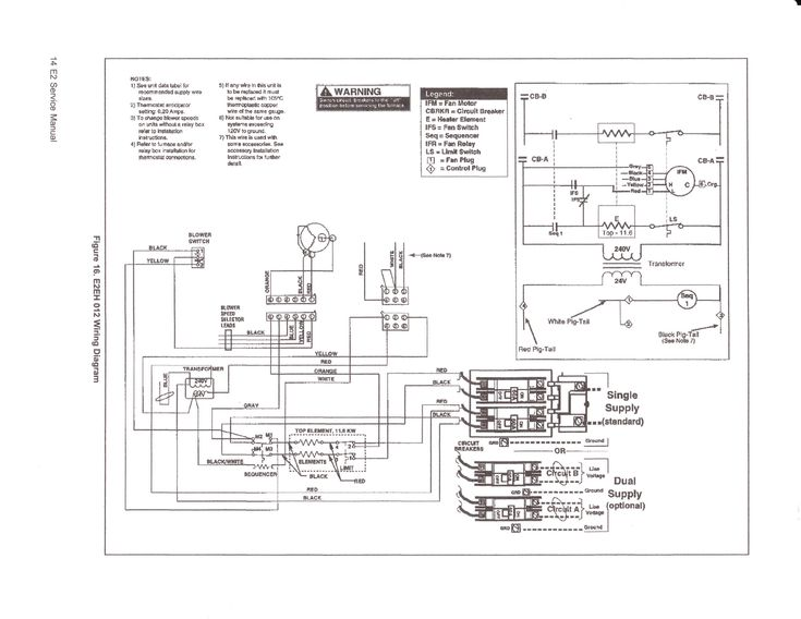 Lennox Electric Furnace Wiring Diagram In 2020