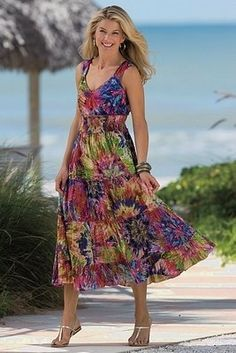 Pretty sundress - Fashion tips for Women Over 50. (as for me...I'd wear this in a younger decade, too!)