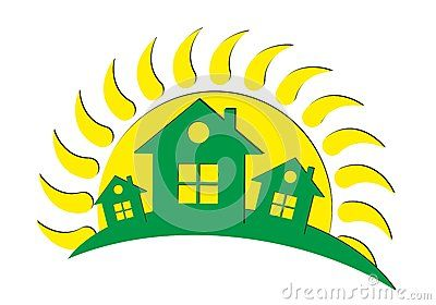 Logo of the cottage settlement Royalty Free Stock Photography