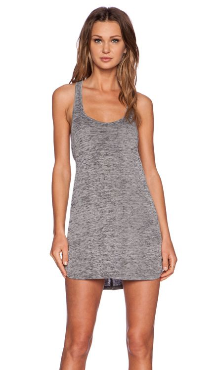 Obey Slater Dress in Charcoal