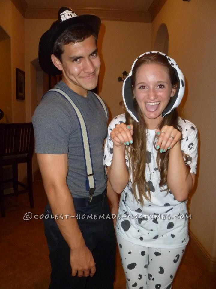 Cute Firefighter and Dalmatian  Halloween Couples Costume... This website is the Pinterest of costumes