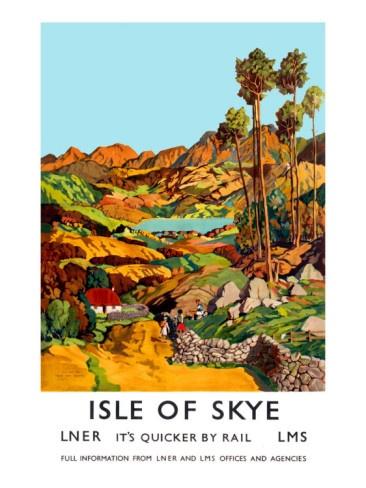 Vintage Travel Poster - Scotland - Isle of Skye