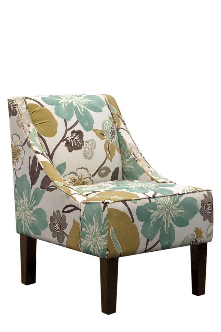 Swoop Arm Chair In Gorgeous Pearl By Gold Coast Furniture Collection I Dont Usually Like Florals But Could See This The Bedroom As A Soft Pop Of
