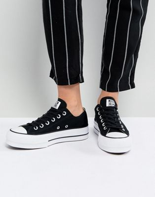 8033ea5cd310 Converse Chuck Taylor All Star Platform Ox Sneakers In Black in 2019 ...