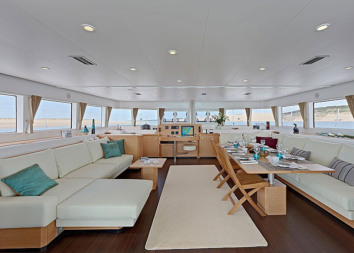 The Inside Of A Very Desirable Sailing Catamaran I Just Want To Take This And