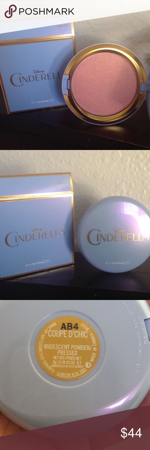 MAC Cinderella Highlighter Mac cosmetics cinderella limited edition collection coupe d'chic iridescent pink/gold highlighter/blush topper, new, 100% AUTHENTIC purchased from mac online MAC Cosmetics Makeup