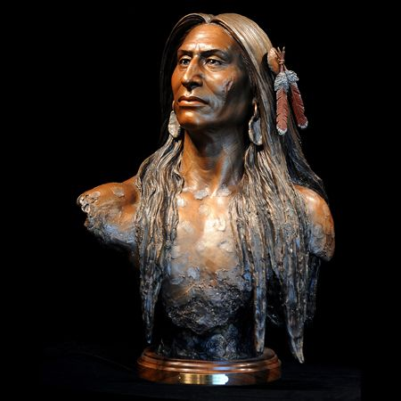 Crazy Horse - Sunti was very fortunate to work with one of Crazy Horse's living relatives, Donovin Sprague, who provided Sunti with a family sketch of the warrior and shared with Sunti the oral history of the Lakotas, describing Crazy Horse's appearance. (website)