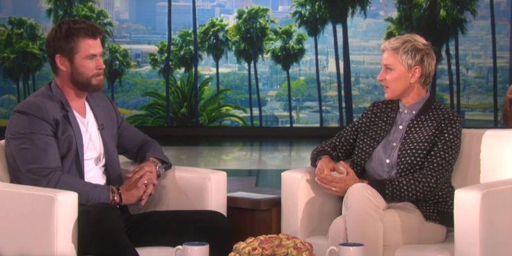 El actor Chris Hemsworth, marido de Elsa Pataky, mostró una faceta desconocida de su personalidad en una entrevista con Ellen Degeneres. El australiano, famoso por papeles tan viriles como Thor