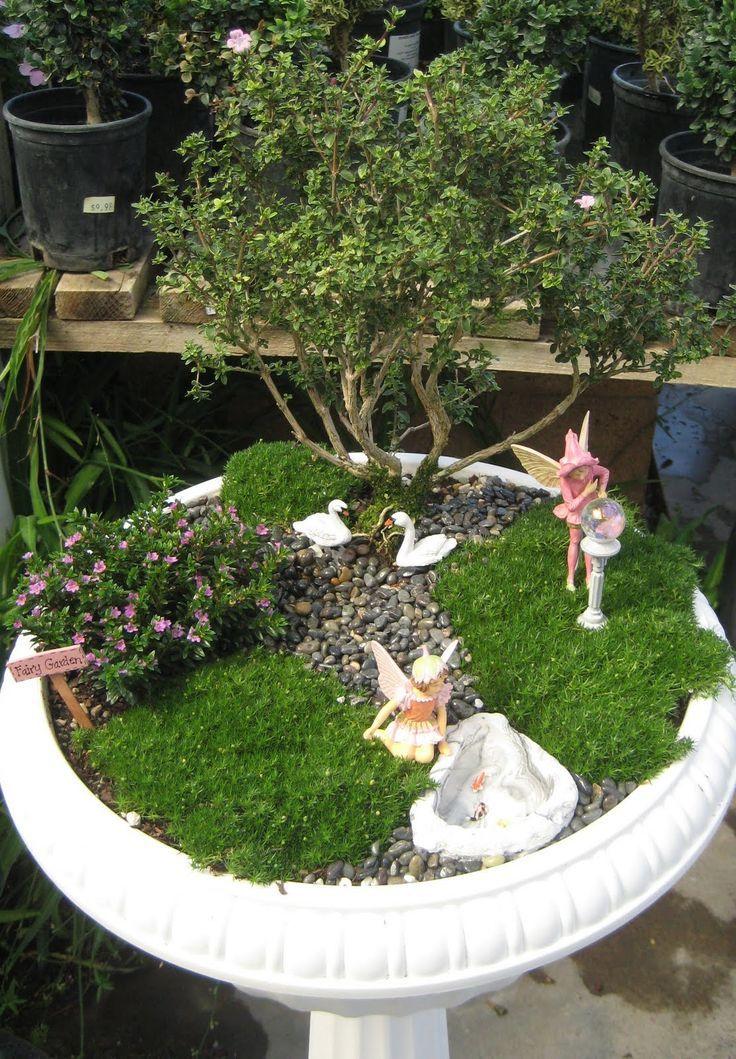 fairy garden fountain