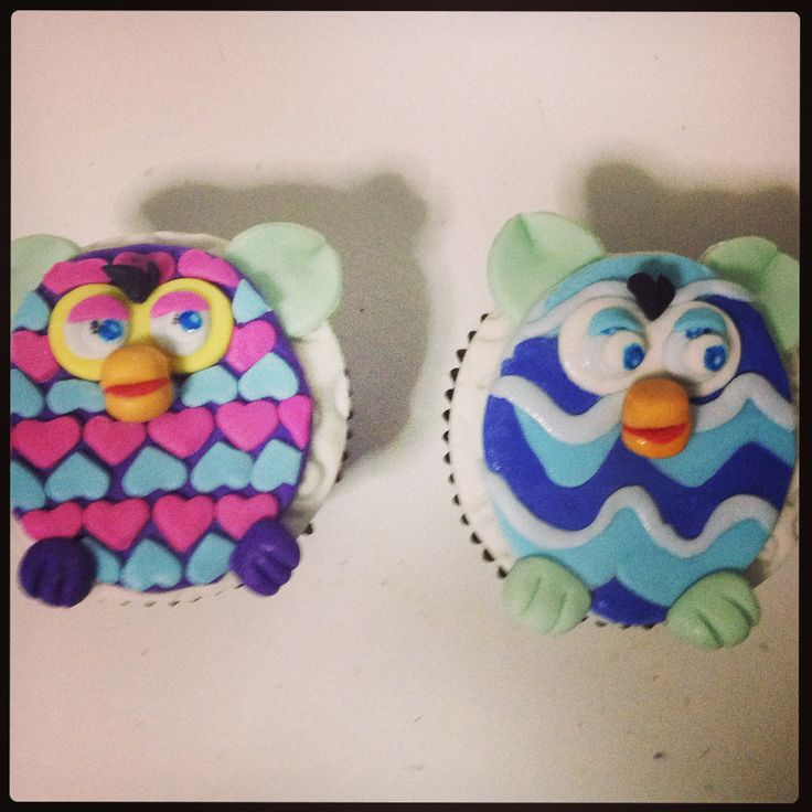 Furby cupcakes #cupcakesfurby #furby