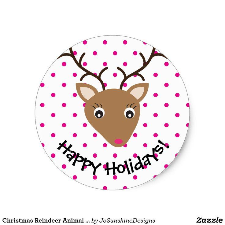 Christmas Reindeer Animal Woodland Face