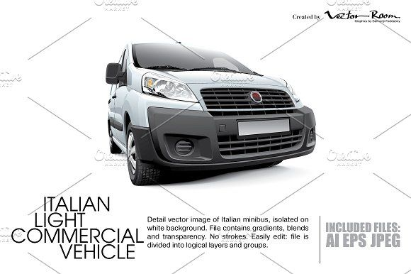 Italian Light Commercial Vehicle by Vector Room on @creativemarket