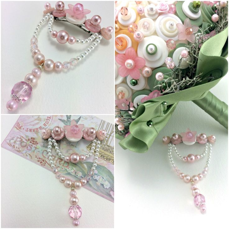 Spring Blossom Hair Slide for #Bridal wear or #prom to complement the Spring Blossom #buttonbouquet http://www.bouquetsbylouise.co.uk/product/hair-slide-Spring-blossom