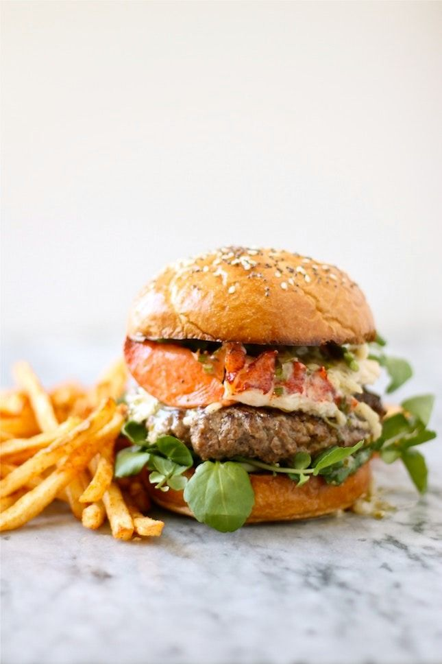 Drooling over this delicious The Surf and Turf Lobster Burger With Chive Beurre Blanc recipe.