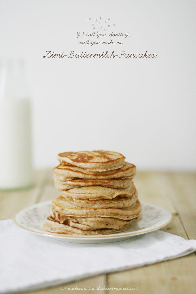 Zimt Buttermilch Pancakes   Zucker, Zimt und Liebe