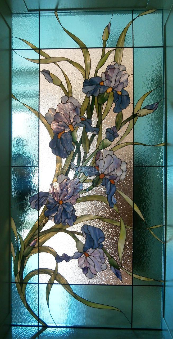 витраж цветы ирисы - Поиск в Google