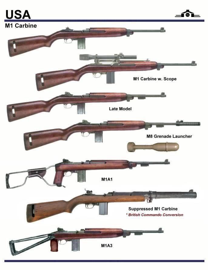 M-1 Carbine variants