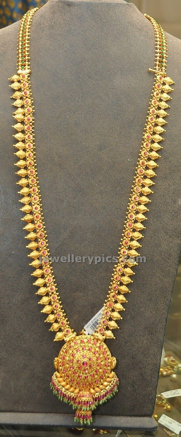 Traditional gold haram models - Latest Jewellery Designs
