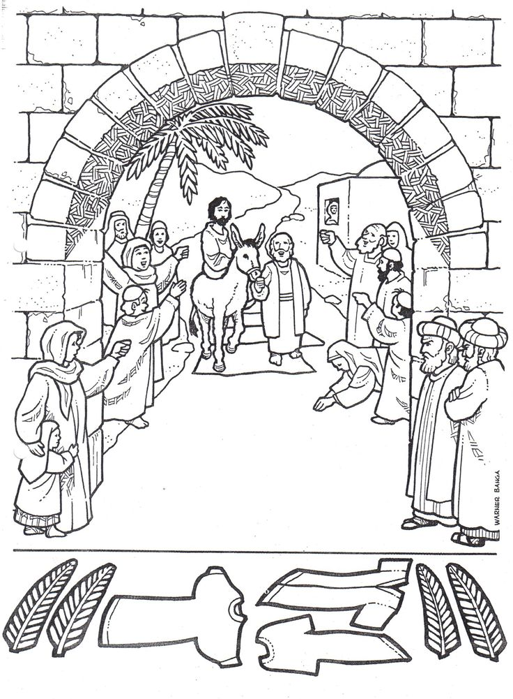 palm sunday coloring pages printable - photo#24