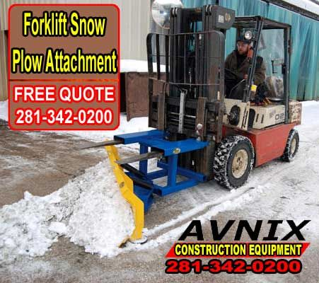 AVNIX Forklift Snow Plow Attachment is designed for use with a forklift truck, Snow Plow Blades are multi functional to work with your existing equipment.
