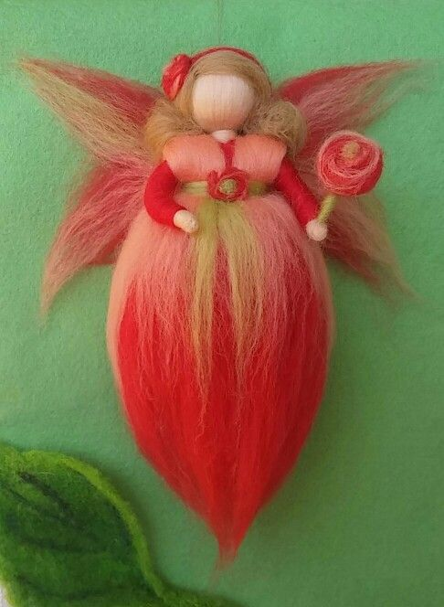 Spring Woolfairy. Waldorf inspired. Handmade. Gift for girls. Room child decoration.