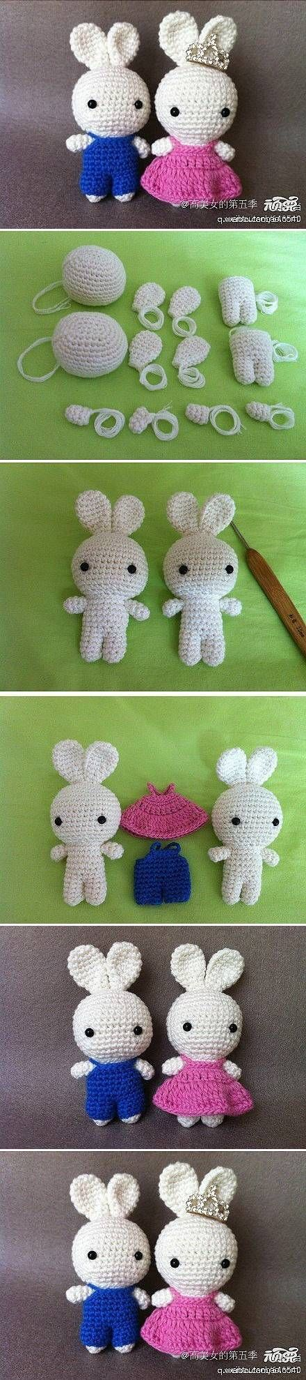 DIY Cute Crochet Bunny Couple
