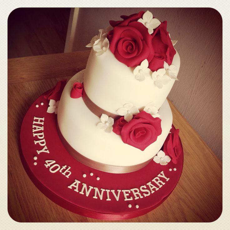 Perfect ruby wedding anniversary cake